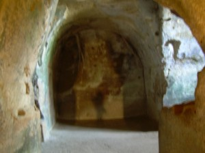 The oikos, the room at the end of the cave. The adyton is on the left, but it isn't really visible in this picture.